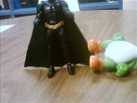 Batman beats a lot of people