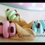 Fimo clay Ice cream charms